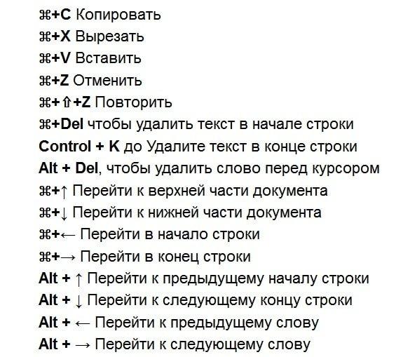 комбинации клавиш айфон