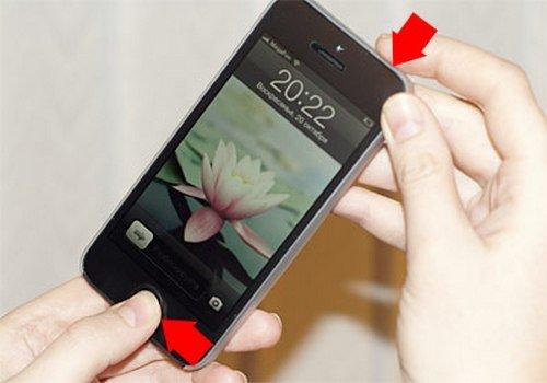 Как сделать на айфоне 5 снимок экрана