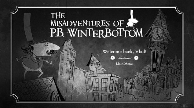 Игра The Misadventures Of P.B. Winterbottom на MacBook
