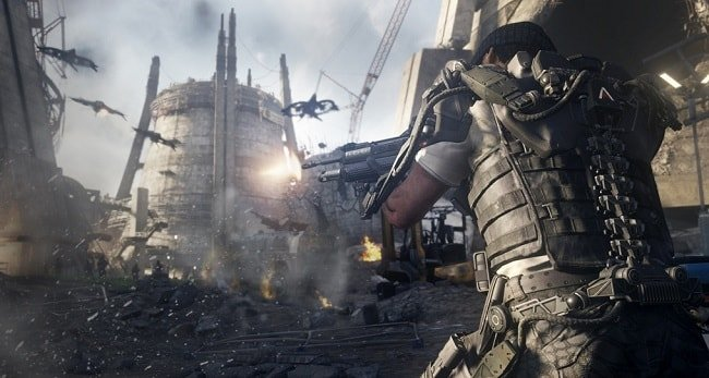 Игра Call of Duty Advanced Warfare на MacBook Pro