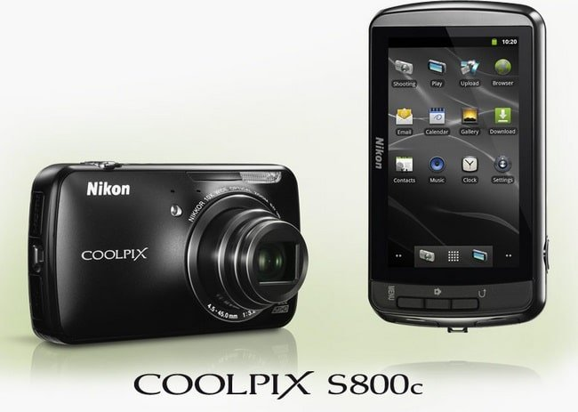 Android-фотоаппарат Nikon Coolpix S800c